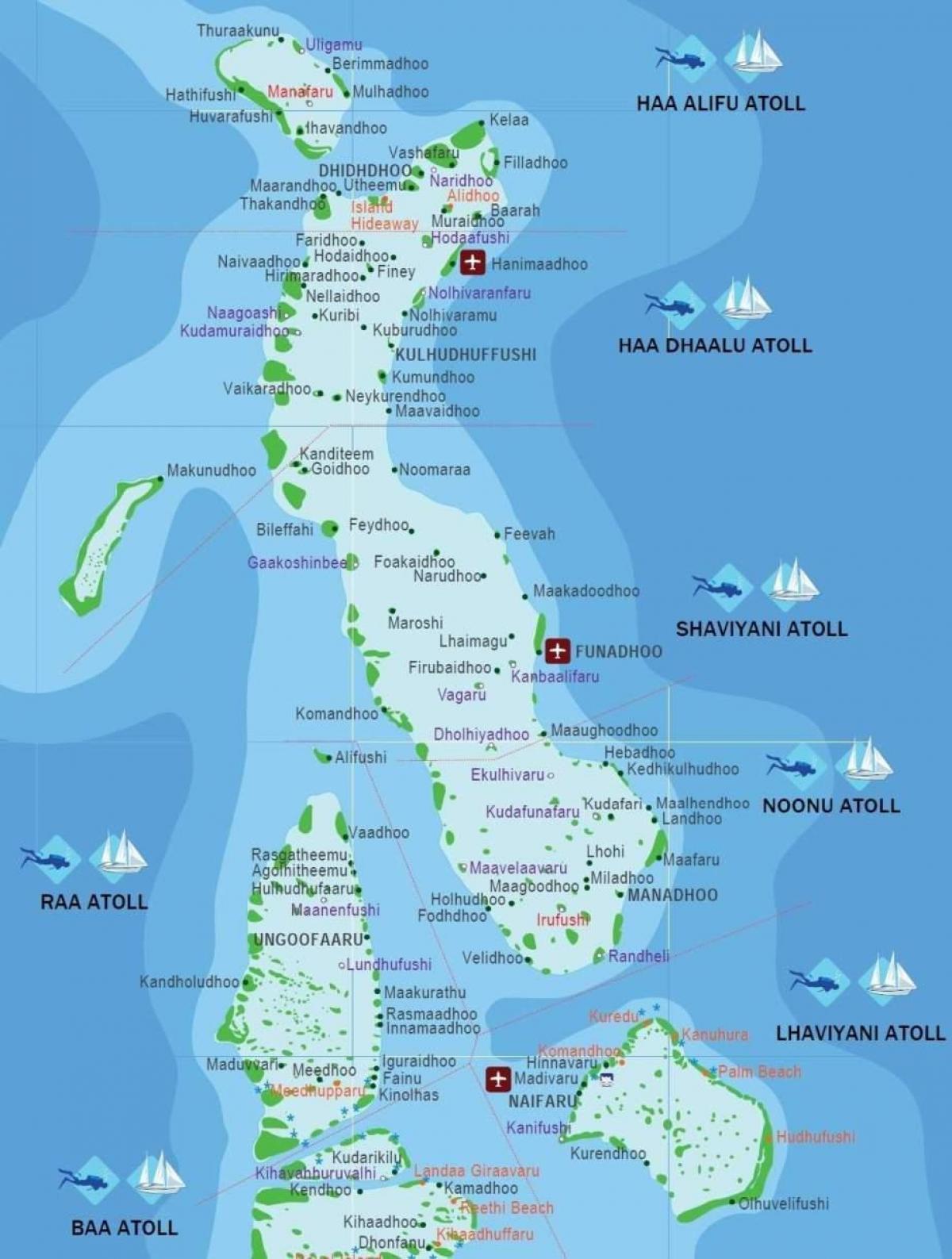 maldivi karta Karta Maldivi   više kartica Maldivi (Južna Azija   Azija) maldivi karta